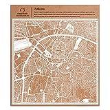 O3 DESIGN STUDIO Ankara Scherenschnitt Karte, Weiß 30x30