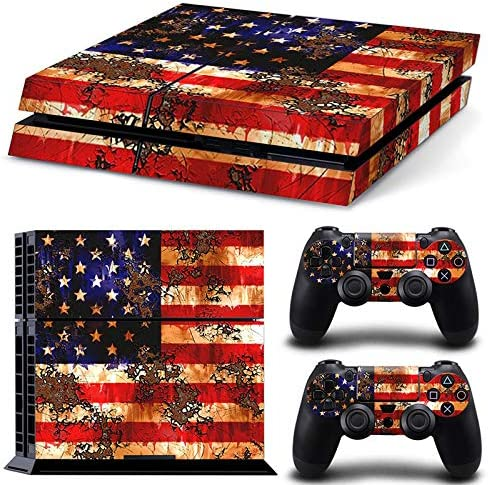 DAPANZ American Skin Sticker Vinyl Decal Protective Cover for Playstation 4 Console and Remote Controllers