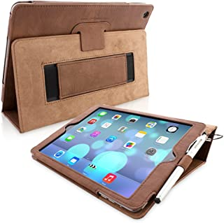 Snugg iPad Air & New iPad 9.7 inch 2017 Case - Smart Cover Case with Kick Stand & (Distressed Brown Leather) for the Apple iPad Air 1 (2013)