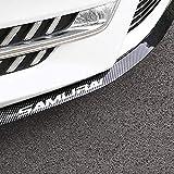 YIEKO Front Bumper Lip Universal Auto Parts Car carbon Fiber Lip Side Skirt Spoiler Anti Scratch Protector Body Kit Trim Waterproof 2.5m/8.2ft(Carbon fiber black)