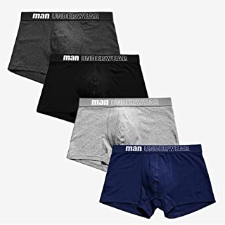 Men's underwear Men's Panties Boxer Men Underpants Men Underwear Male Men Cotton Boxer Shorts Solid Trunks chunjiao (Color : Mint, Size : Large)