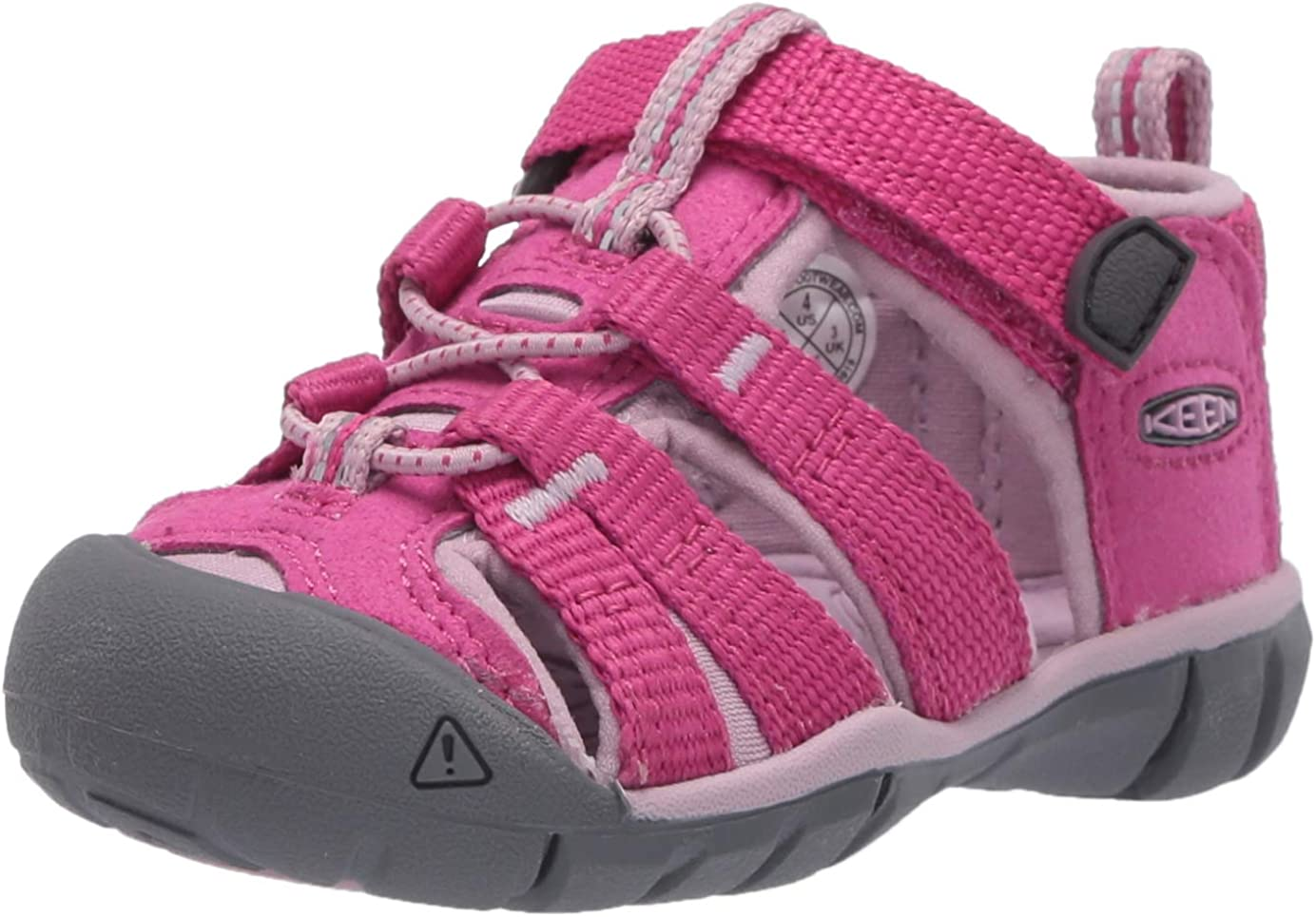 KEEN Toddler's Seacamp 2 CNX Closed Toe Sandal, Very Berry/Dawn Pink, 4 T (Toddler's) US