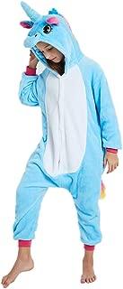 Kids Fleece Onesie Unicorn Pajamas Animal Christmas Halloween Cosplay Costume