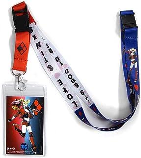 حبل ربط هارلي كوين ذو وجهين دي سي كوميكس من أتا بوي مع مشبك منفصل وحامل لبطاقة الهوية.