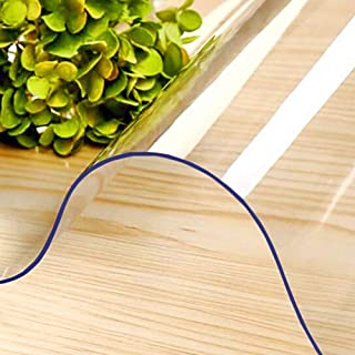 POHOVE Hogar Oficina Escritorio Silla Alfombrilla para Madera Noble Suelos PVC Mate, Transparente Duradero Robusto Altamente Calidad Protector Suelo, Fácil de Limpiar - 透明, 60x90cm