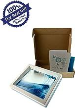 LYPGONE Moving Sand Art Picture Dynamic Sand Picture Flowing Sand Picture Desktop Art Toys Voted Best Gift!(Ocean Heart) - Black White Blue