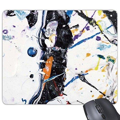 Witte achtergrond Zwarte Lucht Borstel Post-moderne Abstract Art Schilderen Rechthoek Antislip Rubber Mousepad Game Mouse Pad Gift