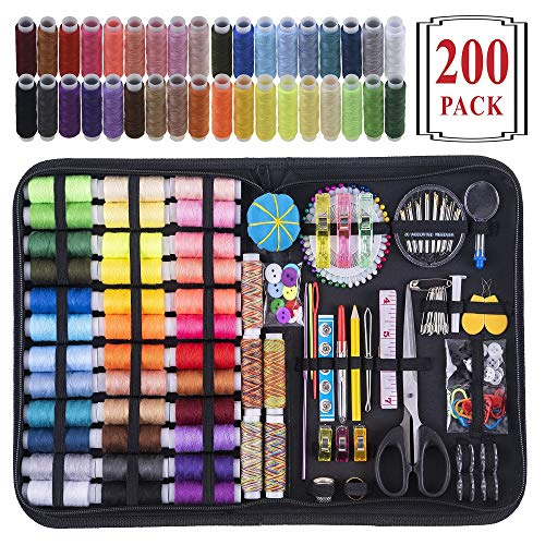 Sewing Kit, 200 Premium Sewing Supplies,...
