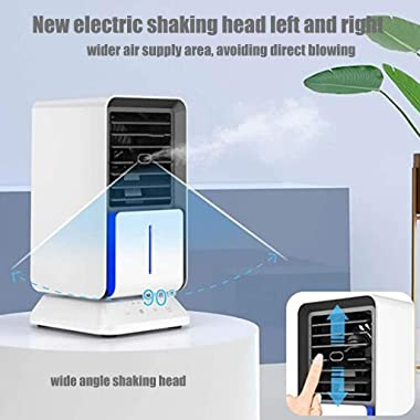 JKIOOW Portable Mini Air Cooler Small Air Conditioner Portable Conditioning Unit Multi-Function Usb Air Conditioning Fan Remo