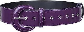 moonsix Vintage Wide Belts for Women, Hole Grommet Cinch Waist Belt for Dress