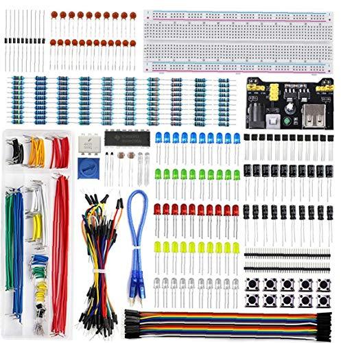 nJiaMe UNO R3 Projekt Starter Kit Electronics Breadboard Learn Programmierung Component Kit Development Board kompatibel mit UNO-R3