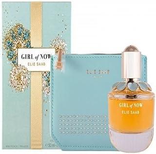 Elie Saab Women's Girl Of Now Eau De Parfum, 50 ml + Mini Pouch Set, ELSGSW043