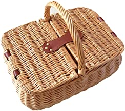 XinQing-Storage basket Wicker Storage Basket Picnic Fruit Basket Rattan Storage Basket Gift Basket Picking Basket 40 * 30 ...