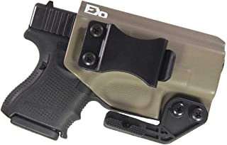 Fierce Defender IWB Kydex Holster Compatible with Glock 26 27 -Paladin Series- Made in USA-