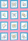 Jack Dempsey Themed Stamped White Quilt Blocks, 9-Inch by 9-Inch, Butterflies, 12-Pack