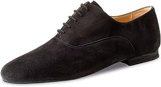 Werner Kern Hombres Zapatos de Baile 28044 - Ante Negro - 1.5 cm Micro-Heel