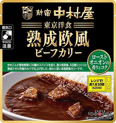 新宿中村屋 東京洋食 熟成欧風ビーフカリーローストオニオンの香りとコク180g ×8袋