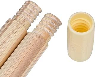 A Mustard Seed Toys Kids Teepee Tent Pole Set, 4 Hardwood Poles, 73