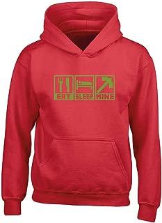 Childrens Hoodie 7 Colours XS-XXL Eat Sleep Basketball Kids Age 1-13 Years