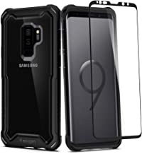 Spigen Hybrid 360 Designed for Samsung Galaxy S9 Plus Case (2018) Glass Screen Protector Included - Black