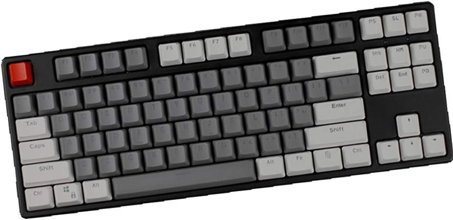 Sunzit Keycaps, 87 Teclas Keycaps Backlight Bicolor Teclado Mecánico PBT Keycap para Cherry MX Teclado Mecánico para Juego