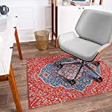 Anji Mountain Rug'd Collection Chair Mat, 36 x 48-Inch, Meknes