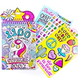 Just My Style 1100 Vinyl Sticker Book by Horizon Group USA. Sparkly Spiral Bound Book With Positivity Quotes, Tie Dye Stickers, Sweet Treats & Much More. Reusable & Repositionable Fun Sticker Activity