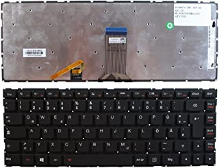 Keyboards4Laptops Lenovo Essential U41-70 Negro Windows 8 Layout Alemán Teclado de Repuesto para Ordenador portátil