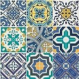 Ambiance-Live Azulejos hidráulicos Adhesivos para la Pared–Azulejos–10x...