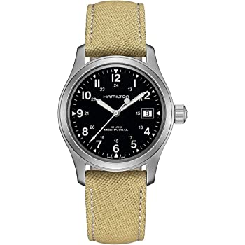 Hamilton Khaki Field Hand Wind Black Dial Men's Watch H69439933