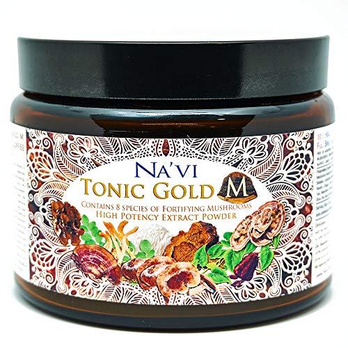 Tonic Gold M - Complejo Super Champiñones 8 - Café de hierbas - Elixir de setas medicinales (225 g)
