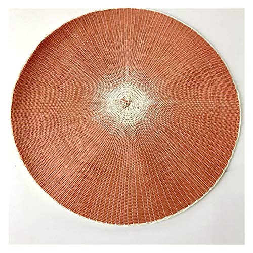 JSJJAYU Alfombra de Escritorio 1 unids Aislamiento de Calor Mesa de Comedor Alfombra 38 cm Redondo Delicado Bordado Postre Pan Mesa placemat (Color : X, Shape Style : Round)
