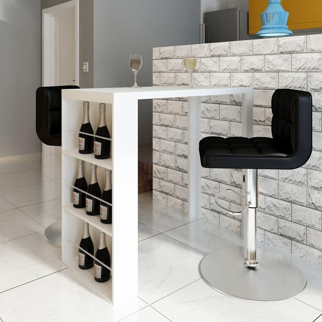 Bistro Table with 3 Wine Racks for Home Decor, Coffee Table, Bar