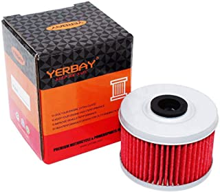 Yerbay Motorcycle Oil Filter for Honda TRX420FPE Rancher ES 4X4 / TRX420FPM Rancher 4X4 W PS 420 2009-2013