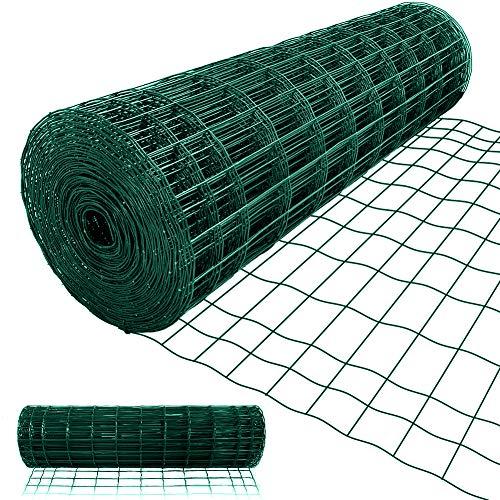 1.22M X 25M Drahtzaun Gartenzaun Grünen Maschenweite 50 x 100mm Drahtgitter-Rolle Gartenzaun RAL6005 Kaninchendraht Metall Drahtg