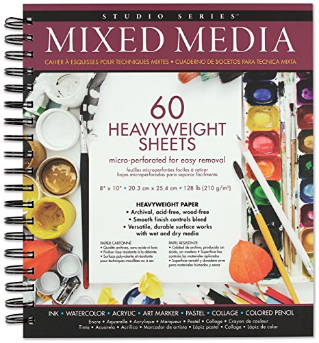 Studio Series Mixed Media Pad 8   x 10   (60 heavyweight sheets)