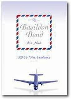 Basildon Bond Airmail Envelope Blue Pack of 20 100080079 Pack of 10