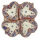 Arredamento Etnico Antipastiera Piatto Ceramica Terracotta Marocchina 1705211006