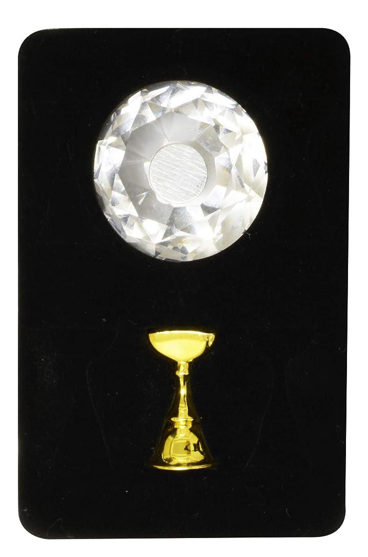 プロジェクター脱臼するスポークスマンジュエリーチップスタンド ダイアモンド (1本ジグセット, ジグ/ゴールド)