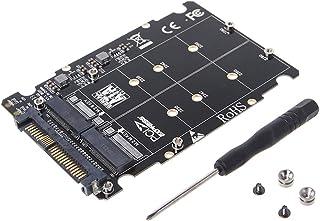 YUYUQ M.2 SSD to U.2 Adapter 2 in 1 M.2 NVMe Key B//M NGFF SSD to PCI-e U.2 SFF-8639 Adapter PCIe M2 Converter Desktop Computer