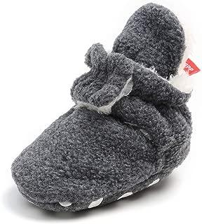 Carozoo Sports Noir Blanc 6-12 M semelle souple en cuir chaussures de bébé