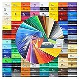 (15,87€/m²) DIN A4 Bogen 30x21cm ORACAL 751C Plotterfolie Folie Vinyl autofolie (070 schwarz)