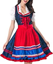 GOBUY-Halloween costumes Ladies Halloween Costumes Costumes German Beer Festival Clothes Bar Beer Girl Service Maid Service Cute Halloween Costume Party ( Color : A , Size : XL )