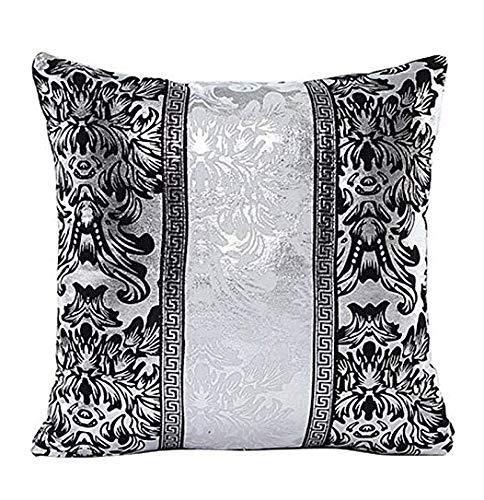 Jellbaby - Funda de cojín con diseño de mosaico clásico, color blanco y negro