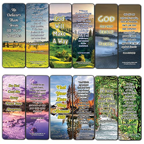 God's Not Done with You Bible Bookmarks (12-Pack) - Collection of Bible Verses