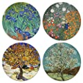 CARIBOU Coasters - Irises, Mulberry, The Pink Peach Tree By…