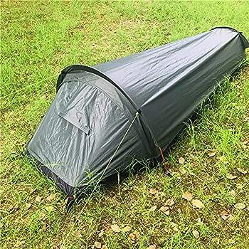 1 Personne Tente de Randonnée, Ultraléger Tente Sac Bivouac Tente de Camping Portable étanche à Configuration Rapide Housse Sac Couchage Sac Bivouac avec Sac de Transport (Vert)