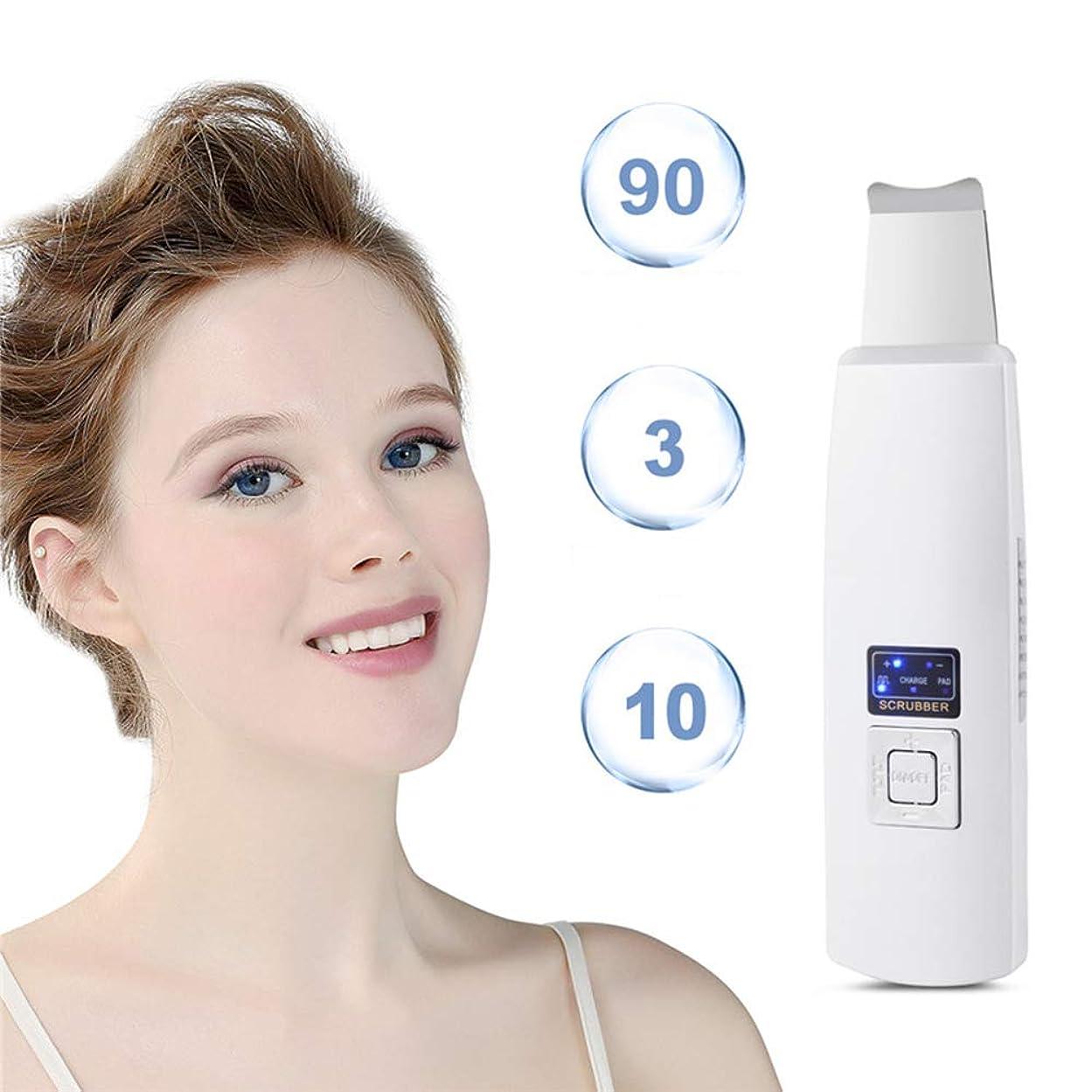 バッテリー入場料判決毛穴の深さの清潔になることおよび顔の持ち上がることのために再充電可能な携帯用皮のスクラバーの剥離剤にきびの除去剤の表面皮のへら