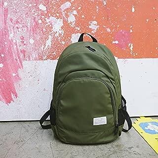 Bolso de Niña de Color Puro Versión Coreana Mochila de Nylon de Gran Capacidad para Estudiantes de Secundaria Mochila de Estudiantes de Nylon