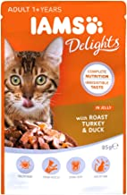 IAMS Delights Cat Wet Turkey Duck Jelly Single Pouch, 85g